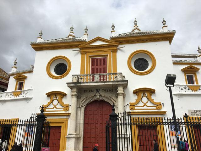 Uno degli emblemi di Siviglia è laPlaza de Toros de la Maestranz
