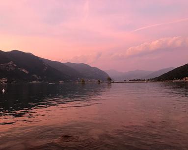 Il Lago di Iseo può regalare favolosi tramonti riflessi nelle acque