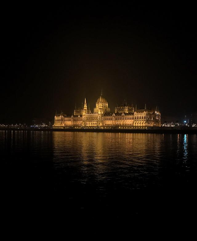 Passeggiando lungo il Danubio a Budapest si hanno panorami fantastici, soprattutto di notte