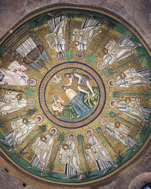 Il Battistero degli Ariani di Ravenna ha mosaici bizantini del regno goto di Teodorico