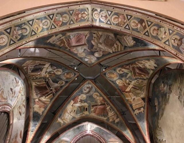 Gli affreschi staccati da Santa Chiara sono uno dei gioielli del Museo Nazionale di Ravenna