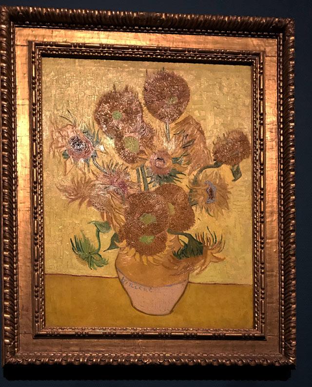 Nel Museo di Van Gogh di Amsterdam è esposta una copia dei Girasoli