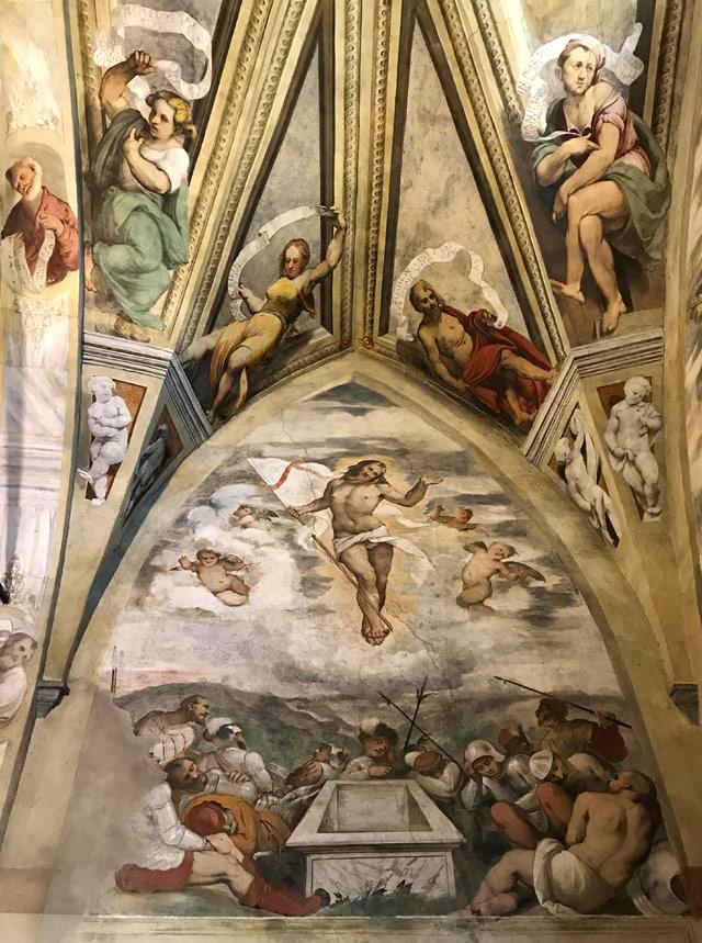 Il Romanino ha dipinto un ciclo di affreschi sulla Passione di Cristo nella chiesa di Santa Maria della Neve a Pisogne