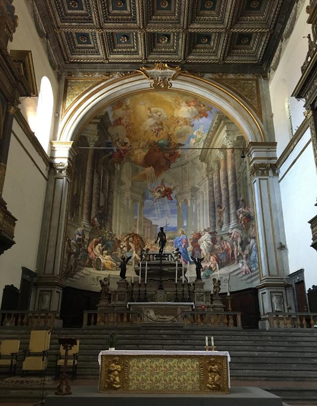 La Chiesa della SS. Annunziata era la chiesa dell'ospedale di Santa Maria della Scala a Siena