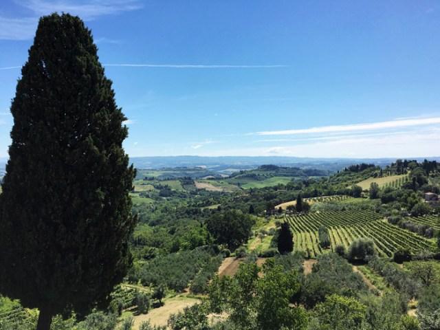 San Gimignano offre una fantastica vista sulla natura della val d'Elsa
