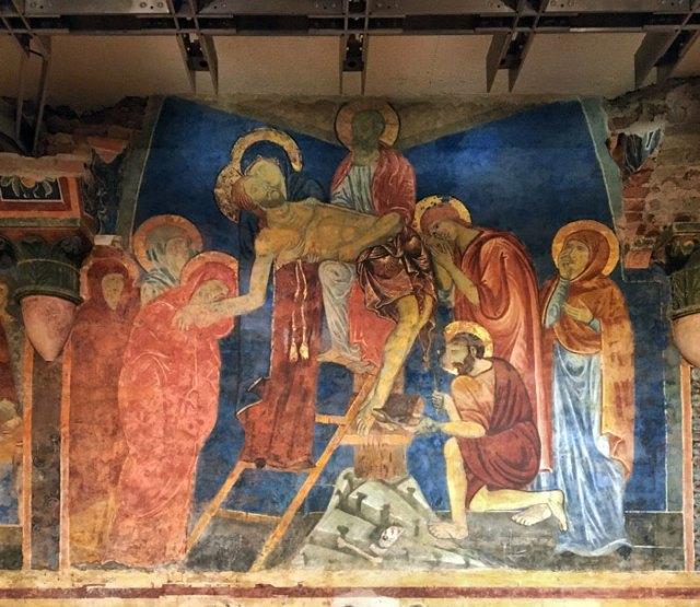 Vedere la Cripta del Duomo coi magnifici affreschi è una delle cose da fare a Siena
