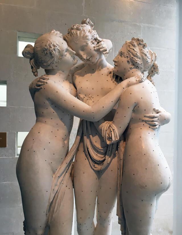 La copia delle Tre Grazie di Antonio Canova si trova