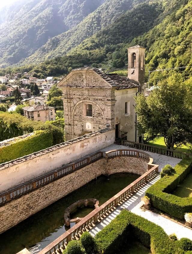 Palazzo Vertemate Franchi a Piuro in Valchiavenna ha un bellissimo giardino all'italiana