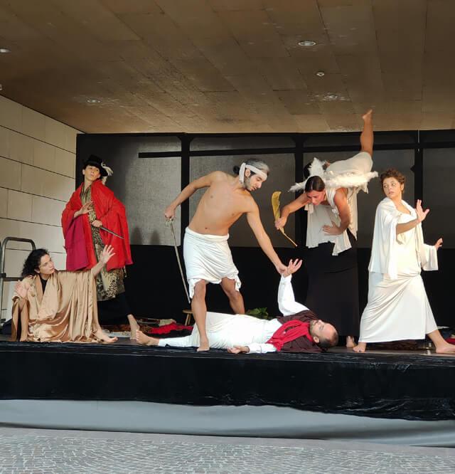 Tableaux vivants dei quadri di Caravaggio hanno aperto la mostra al Mart di Rovereto