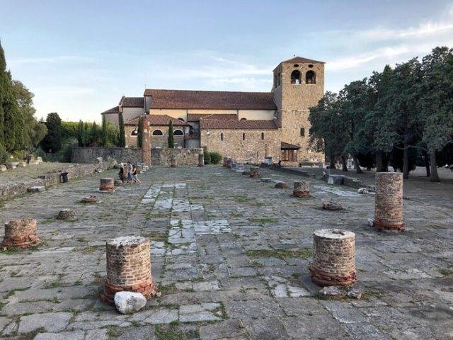 Trieste ha resti del Foro romano sul colle di san Giusto