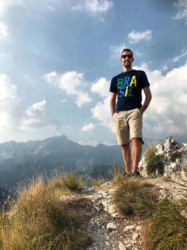 Simone Colombo @srake nell'Orto Botanico delle Alpi Apuane