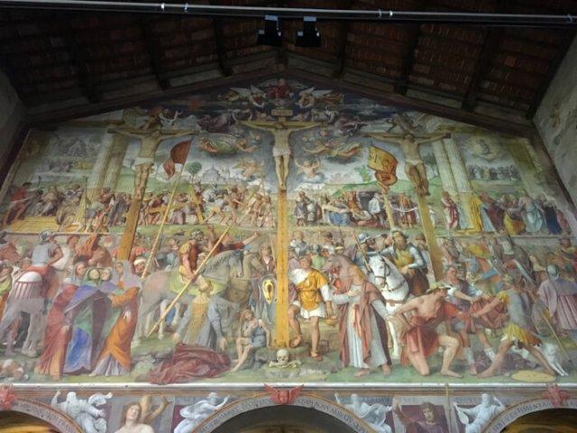 """""""Passione e Crocefissione"""" di Bernardino Luini è un capolavoro rinascimentale a Lugano in Ticino"""