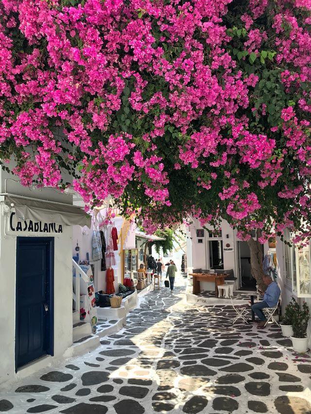 Il centro di Mykonos è pittoresco: è una delle isole greche da visitare!