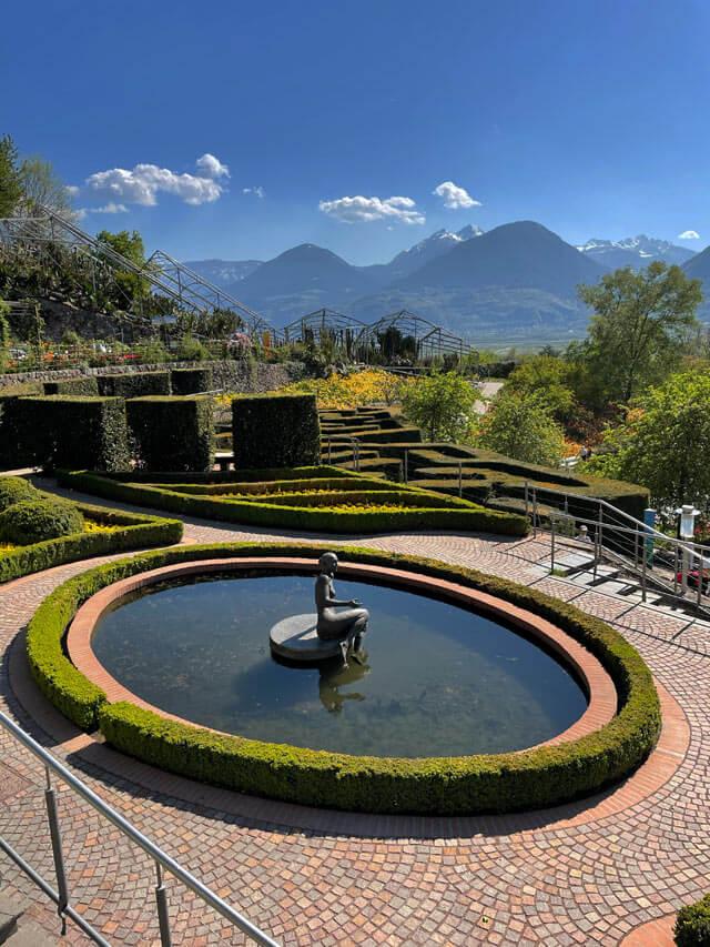 I giardini di Castel Trauttmansdorff hanno un giardino all'italiana