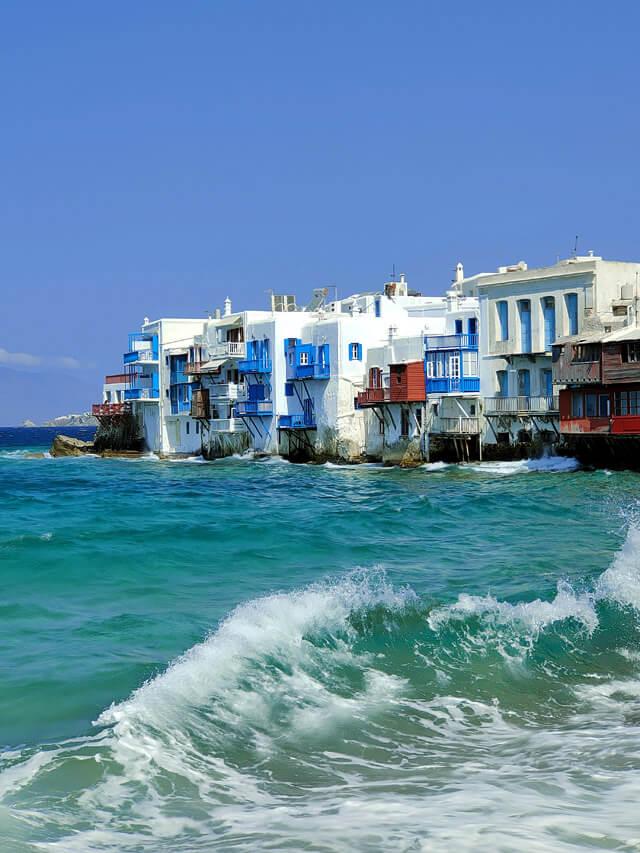 Little Venice è il quartiere più caratteristico di Mykonos