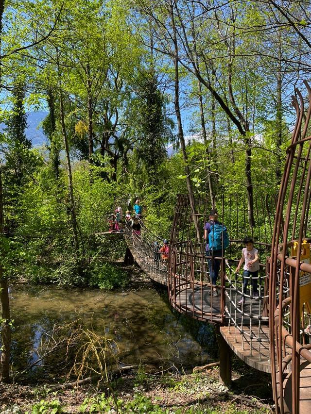 Il Ponte delle Avventure è un'attrazione per bambini dei Giardini Trauttmansdorff
