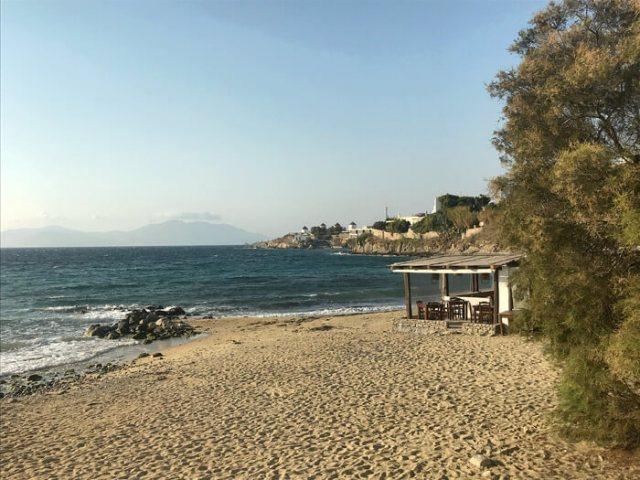 La spiaggia di Megali Ammos è la più vicina a Mykonos Town