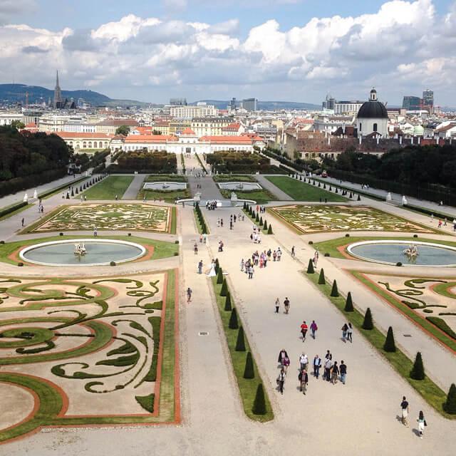 I Giardini del Belvedere sono una meraviglia da vedere a Vienna