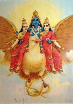 Vishnu riding Garuda