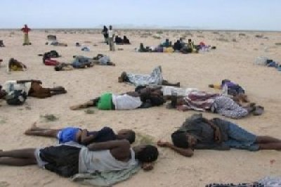 Ethiopian bodies at Yemen coast