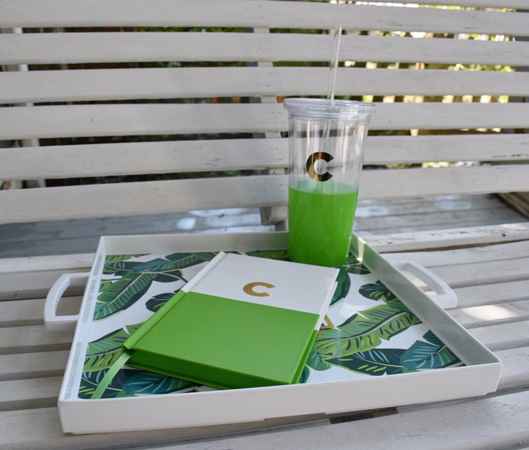 Kate Spade initial tumbler and journal