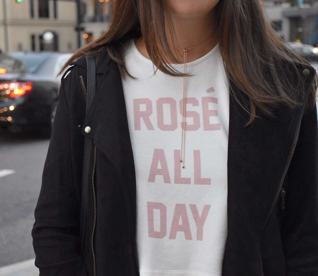Rosé All Day crop top