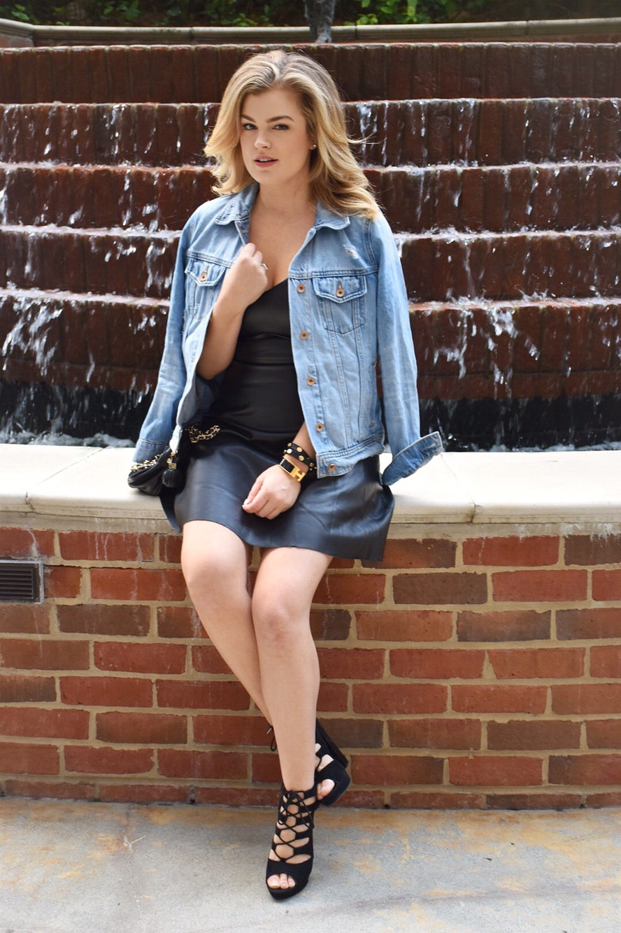 How to wear a leather dress