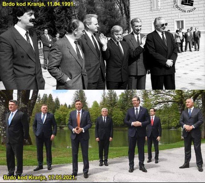 30 GODINA LUDAKA KOJI UBIJAJU NAROD I TAJNI ZNAKOVI: Jezive fotografije sa Brda kod Kranja iz 1991. i 2021. izazvale zebnju! 1