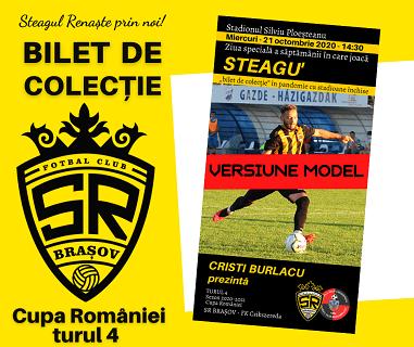 BILET DE COLECȚIE SR Brasov FK Csikszereda turul 4