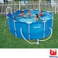 Bestway Stahlrahmen- Pool 366x122 cm Komplett- Set von ...