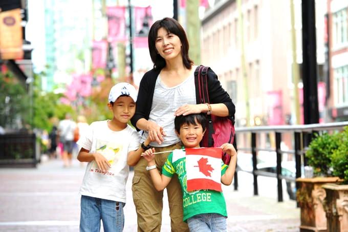 カナダ親子留学中の様子