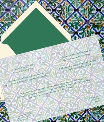 Invitación azulejos Casa Pilatos