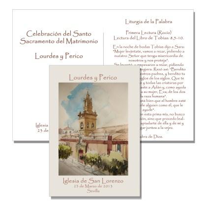 Misal acuarela Iglesia de San Lorenzo