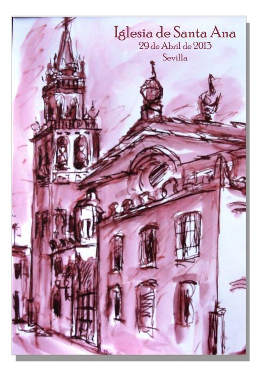 Acuarela Iglesia de Santa Ana