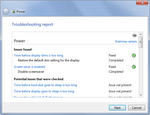 Use Windows Power Troubleshooting 3