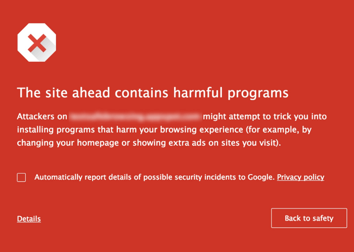 google-warning