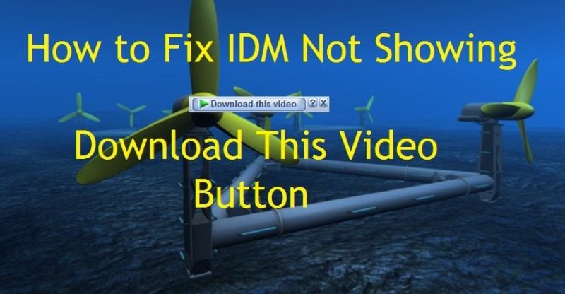 """How to Fix IDM Not Showing """"Download This Video"""" Button 1"""