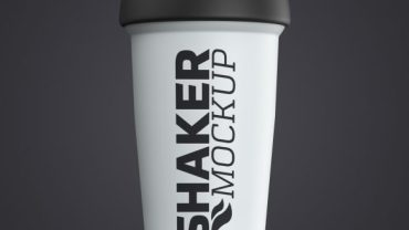 Protein Shaker Bottle Mockup Free Download |