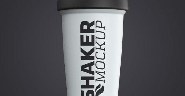 Protein Shaker Bottle Mockup Free Download |