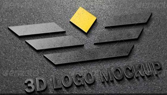 25+ Best 3D Logo Mockup Adobe PSD & Vectors 19