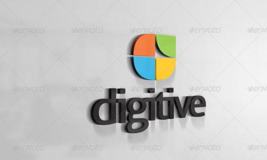 25+ Best 3D Logo Mockup Adobe PSD & Vectors 6