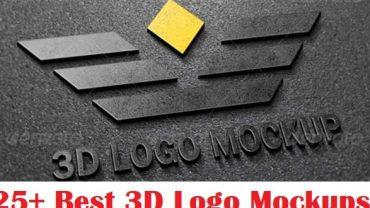 25+ Best 3D Logo Mockup Adobe PSD & Vectors  