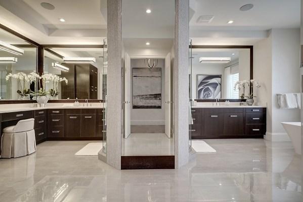 L-shaped Bathroom Vanity Design