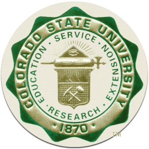 Seal of Colorado State University -- Cortni graduated with BS in psychology in Dec. 2005
