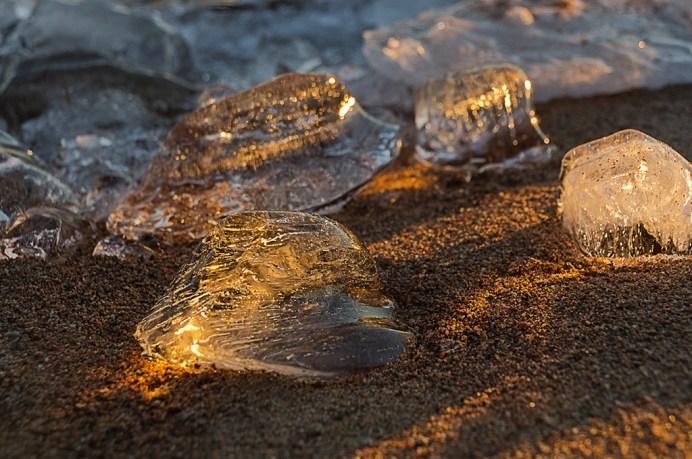 The sun's shadows, and ice
