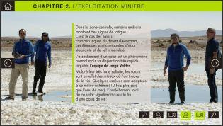 Capture d'écran d'un chapitre du webdocumentaire
