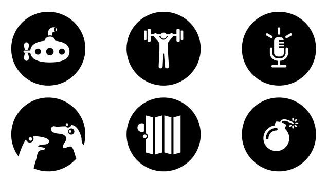 Les logos utilisés pour les catégories de la mixroom