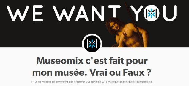 Bannière du blog Museomix : c'est fait pour mon musée, vrai ou faux ?