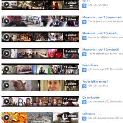 Les playlists Youtube de la mixroom