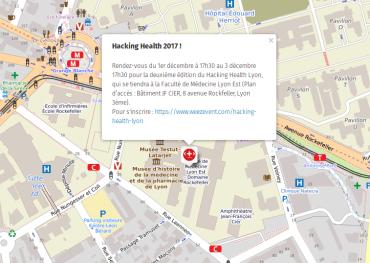 plan de localisation Hacking Health 2017